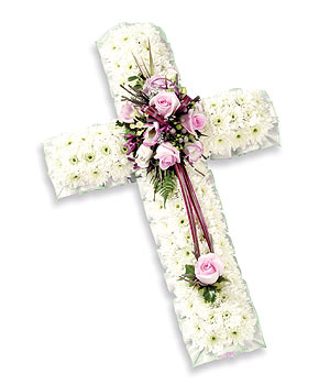Based cross of Chrysanthemum with a spray of Roses and Eustoma w